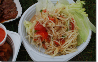 Delicious and healthy papaya salad for your health and wellness.