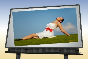 woman in advertisement