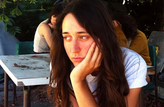 Girl looking bored