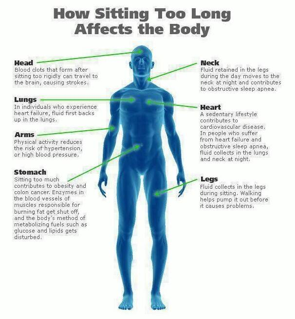 Prolonged sitting affects our health and wellness.