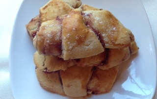 Rugelach with guava filling