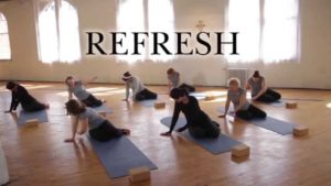Women from Pietra Fitness stretching for restoring body and soul