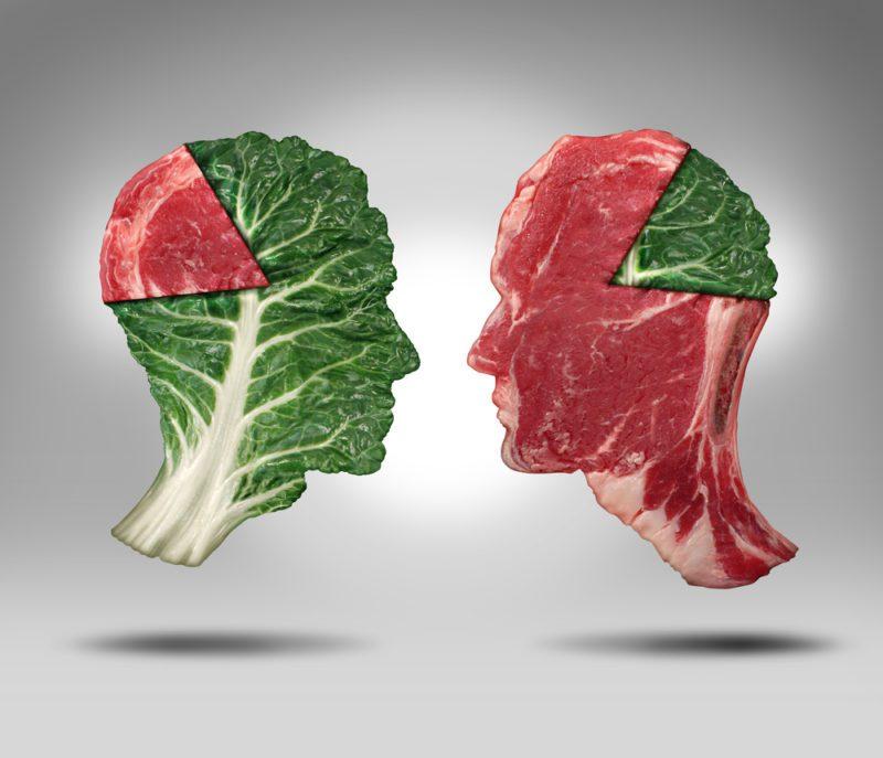 meat eater vs vegan