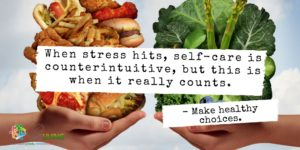 self-care vs stress