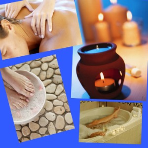 Relaxing bath, relaxing massage